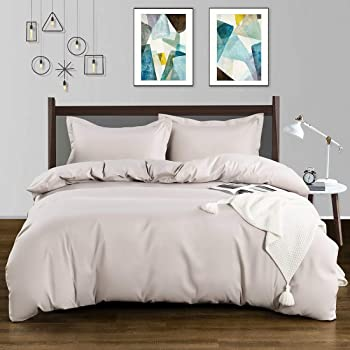 TELUS Pink Duvet Cover Twin Size, Ultra Soft Breathable Brushed Microfiber Comforter Cover with Zipper Closure & Corner Ties, Luxury Bedding 3 Pcs Set (1 Duvet Cover & 2 Pillow Shams)