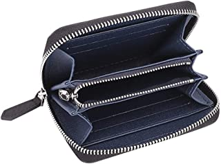 Men's Wallet Carbon Fiber Short Zip Coin Purse is Suitable for Shopping and Fashion Trends (Color : Blue, Size : S)