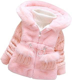 Fairy Baby Infant Baby Girls Winter Knited Fur Outerwear Jacket Hood Snowsuit Coat