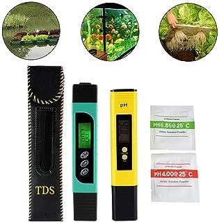 3in1 TDS + EC + medidor de la Temperatura y medidor Digital del pH de LCD, Monitor de la Calidad del Agua de la exactitud Portable del Estilo de la Pluma para el Agua Potable, la hidroponía
