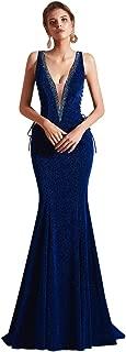Leyidress Women's Mermaid Dress Party Prom Gown Evening Dress Bride Bridesmaid Dress