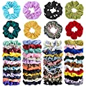 52-Piece Cehomi Hair Scrunchies Elastic Hair Bands