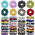 52-Piece Cehomi Hair Scrunchies Elastic Hair Bands