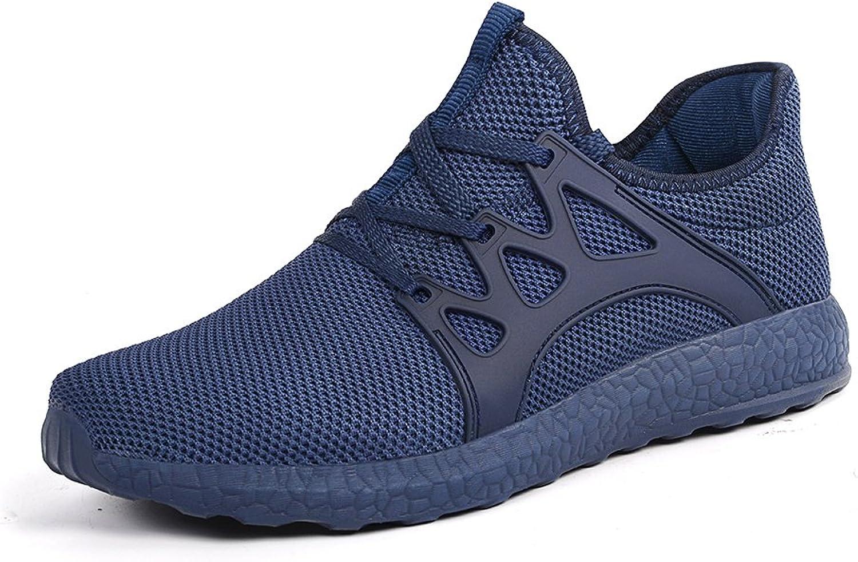 Mxson Womens Sneakers Ultra Lightweight Breathable Mesh Sport Gym Walking shoes bluee 10.5B(M) US