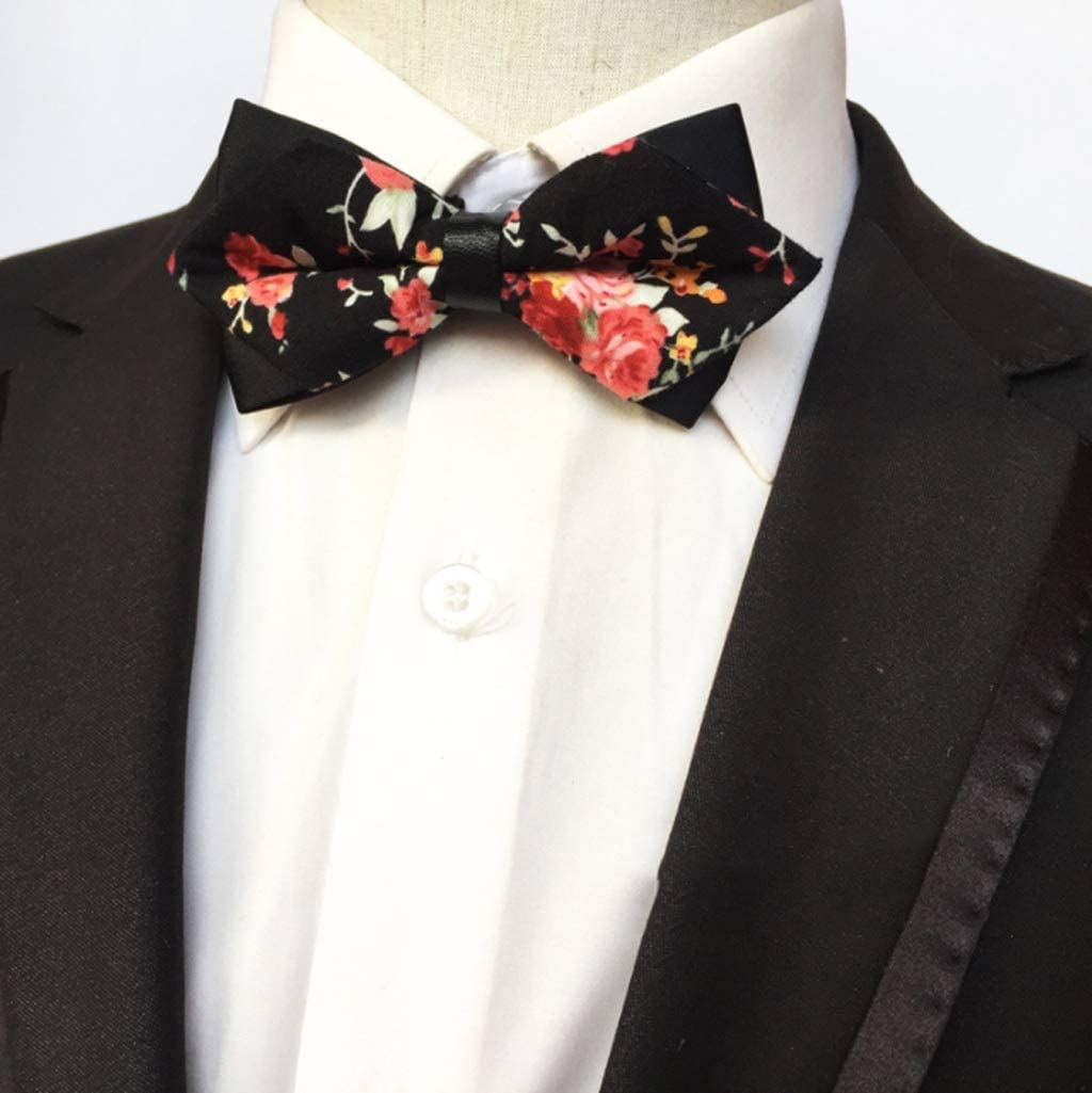 YFQHDD Mens Bow Tie Max 84% OFF Red Pointed Trust and Butterfly Gold Fashion Black