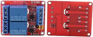 Módulo de relé de 2 canales con optoacoplador, Tarjeta de expansión de disparo de bajo nivel para Arduino 5V / 12V / 24V(5V)