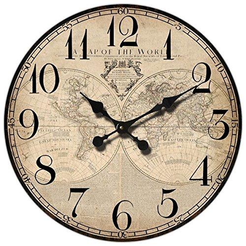 orologio da parete world Orologio da parete  Map of the world  stile Vintage