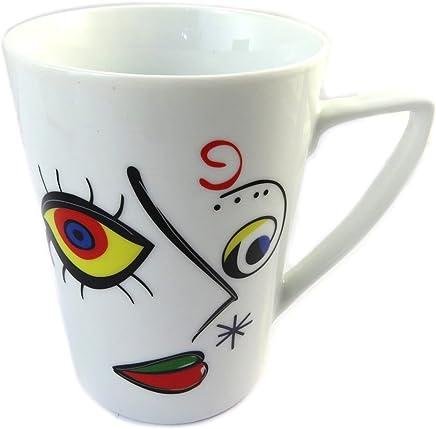 Taza de porcelana Chalut De Parisde color marr/ón amarillento.