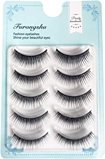 71b0513a4e8 5 Pairs False Eyelashes Pack Natural Multipack Handmade Reusable Fake Lashes  5 styles