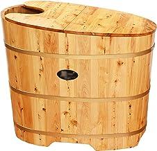 BUOODIUY Bañera de madera Bañera de madera para adultos interior de madera para adultos SPA Bañera para niños Piscina de vapor con bañera Hot W