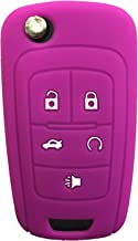 Rpkey Silicone Keyless Entry Remote Control Key Fob Cover Case protector For Buick Encore LaCrosse Regal Verano(Violet)OHT01060512 5461A-01060512
