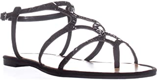 Womens Gianna Open Toe Casual Ankle Strap, Black, Size 8.5