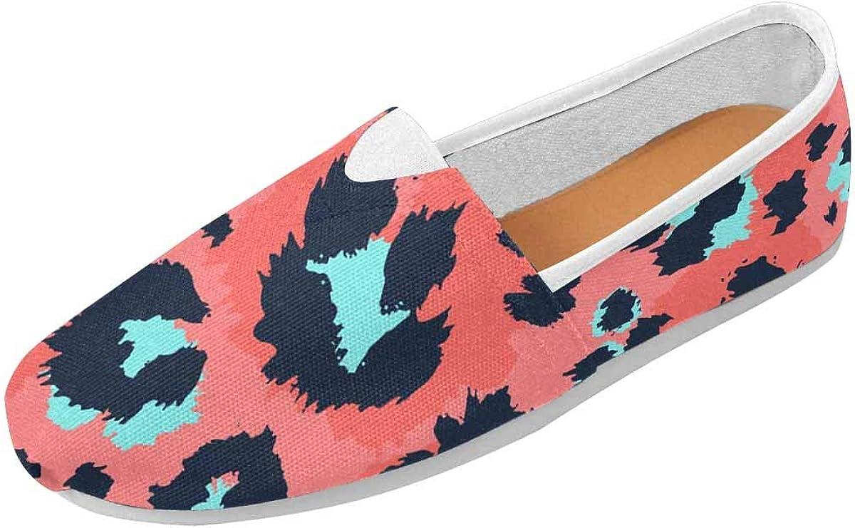 INTERESTPRINT Leopard Patterns Women's Natural Comfort Walking Flat Loafers