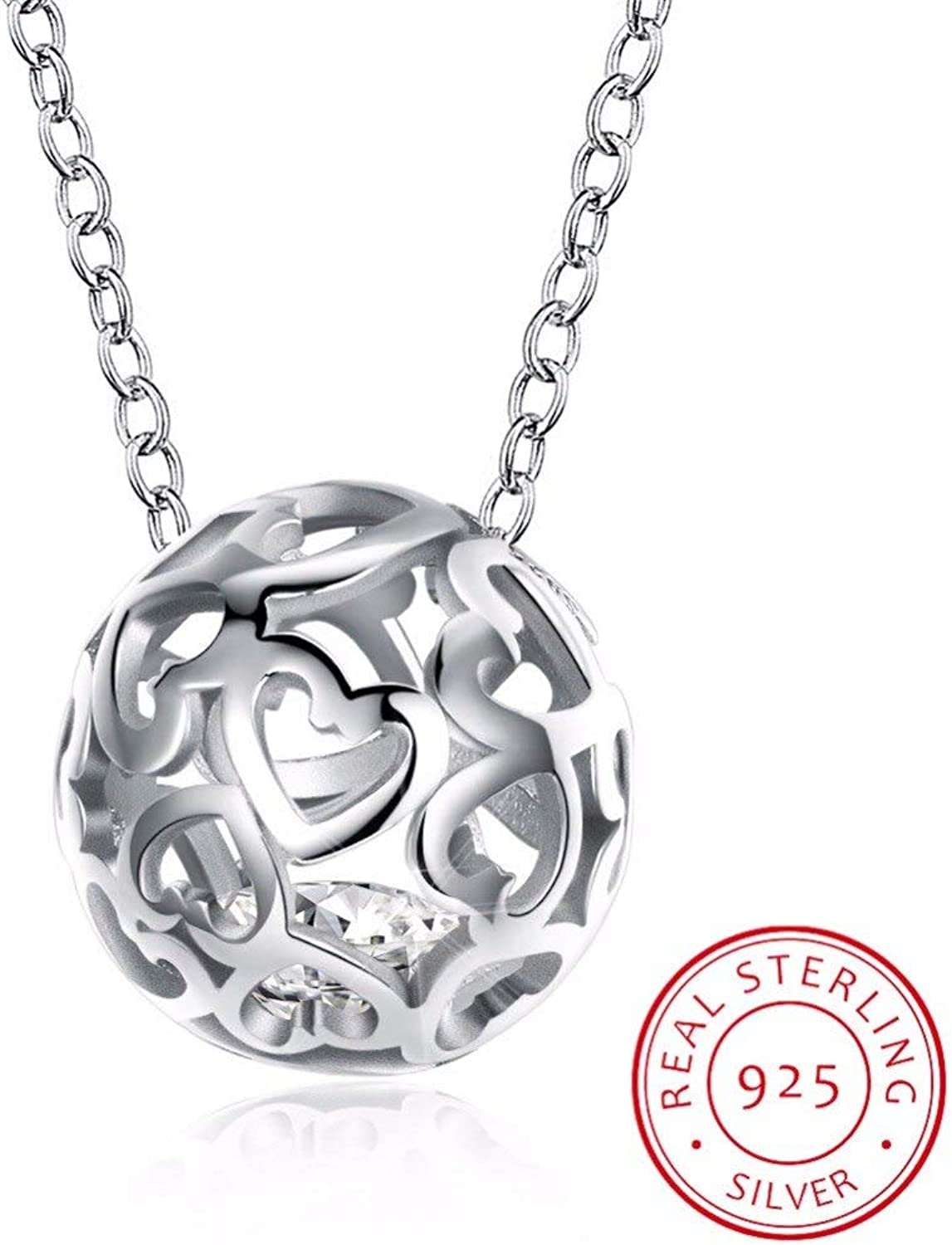 Football Pendant Necklaces Ball Heart Fine Jewelry Sporty Fashion 925 Sterling Silver Necklace