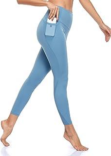 VIMASS Womens Yoga Pants with Pockets High Waist Tummy Control Petite