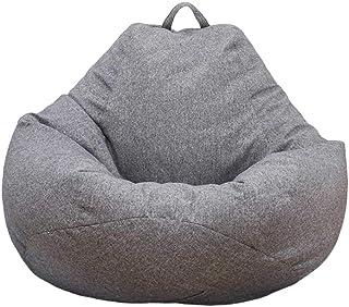 Neborn Funda de puf, puf Gigante Funda de Puff Funda de Puff Grande Sofá Liso Diseño de Lino Simple para Adultos y niños sin Relleno