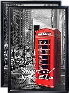 PETAFLOP Poster Frame 11x17 Black 11 x 17 Frame, Pack of 2