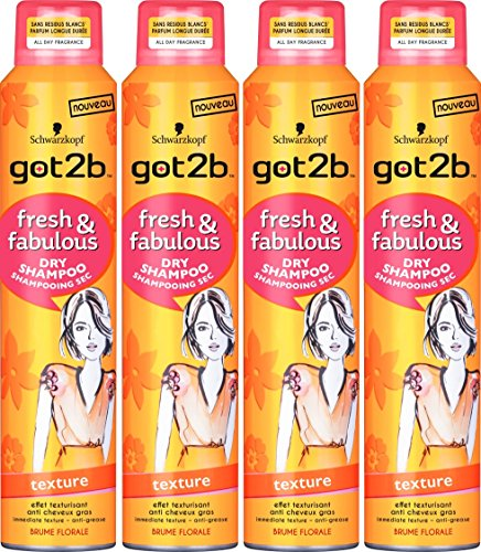 got2b Shampoo Sec Fresh/Fabulous Texture – 4 Stück