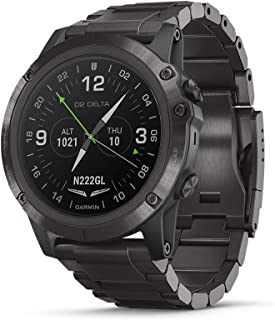Garmin D2 Delta PX, GPS Pilot Watch with Pulse Ox Sensor, Includes Smartwatch Features, Heart Rate and Music, Titanium wit...