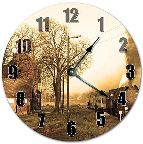 Good Old Times Wanduhr aus Holz, leise, moderne Wanduhr für Wohnzimmer, Schlafzimmer, Kinderzimmer, Wandkunst, 30,5 x 30,5 cm
