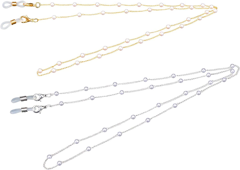 Eyesglasses Chain Face Mask Lanyard Mask Holder Necklace Chain Adjustable Women