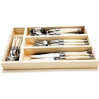 Jean Dubost 20-Piece Ivory Flatware Set French Farm 98120