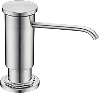 Sink Soap Dispenser with Lead Free ABS Plastic Pump Brass Sprayer and PET Bottle Delle Rosa Brushed Nickel Soap Pump