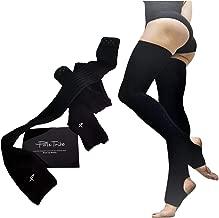 High Thigh Leg Warmers for Women. Warm Up High Socks- Yoga, Pole Dance. Non-Slip Black