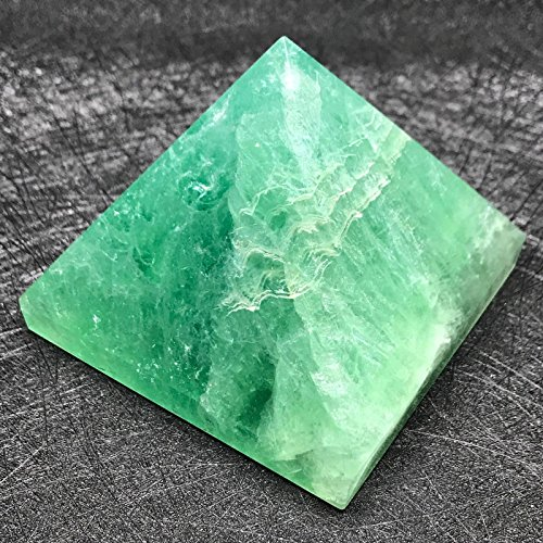 Energisierte Edelstein-Pyramiden 4,4 cm - 5,1 cm – Heilende Edelstein-Kristalle – Lapiskristall, Quarz, grüne Jade, Fluroit, Iolith, Pyrit, Aventurin, Amethyst, Turmalin, Citrin (grüner Fluorit)