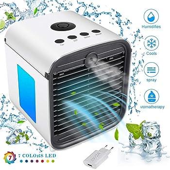 Mini ventilador portátil portátil para aire acondicionado ...