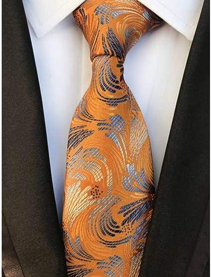 Homme Orange Violet or Cravate en soie