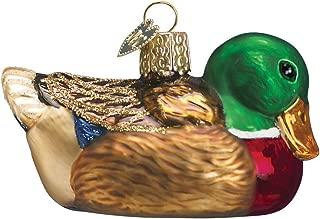 Old World Christmas Ornaments: Mallard Glass Blown Ornaments for Christmas Tree (16017)