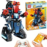 Anysun STEM Building Blocks Robot, Remote and APP Controlled Robot Creative Toys Educational Building Kits Intelligent Rechargeable Construction Building Robot Learning Toy Gift for Boys Girls