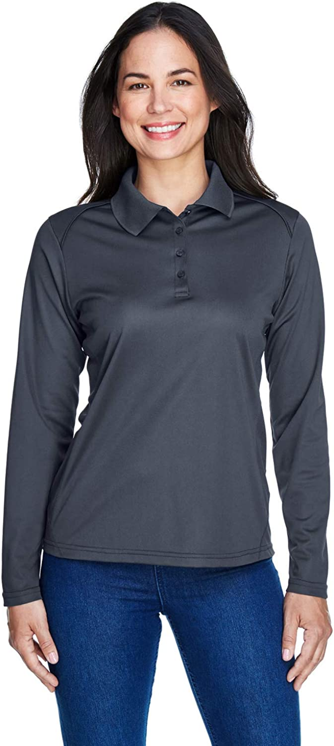 Ash City - Extreme Women's Snag Protection Long-Sleeve Polo, Carbon, 3XL