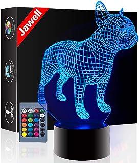 Jawell Lámpara de noche con iluminación 3D, 7 colores