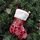 6 PZ/Nuovo Natale Natale sugli Articoli Sacchetti di Natale Natale Borse Regalo Bags Tromba Snowflake Calze di Natale Fai da Te (Colore: Rosso, Dimensioni: 17 * 12 * 8 cm) Peng (Color : Red)