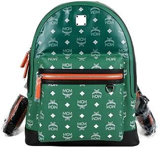 MCM Women's Resnick Green Leather Reflective Nylon Medium Backpack MUK9ARA15G5001