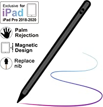 Stylus Pen for iPad with Palm Rejection, Active Stylus with Magnetic for 2018-2020 Apple iPad, iPad (6/7 Gen)/iPad Pro (11/12.9 inch)/iPad Mini Gen 5/iPad Air Gen 3, Rechargeable Digital Pencil Black
