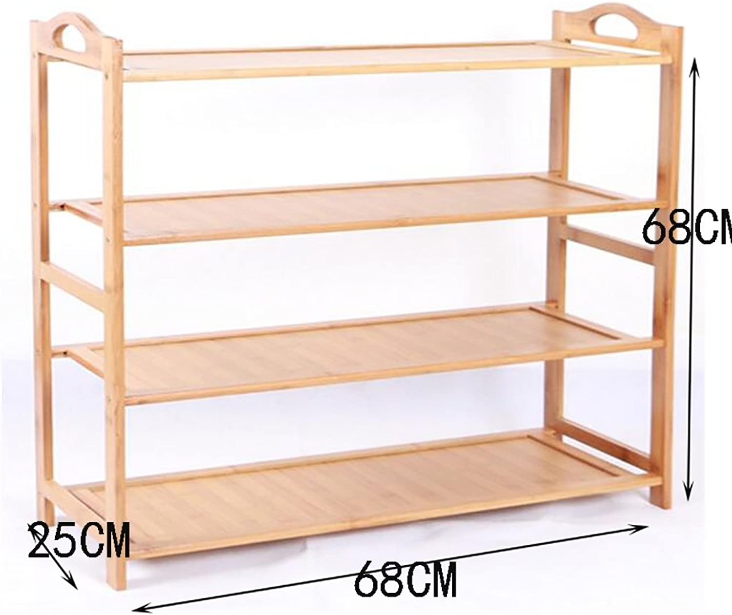 shoes Bench Organizing Rack Bamboo Simple shoes Rack Multi - Storey shoes Rack Wooden shoes Rack Multi - Storey Dormitory shoes Rack Living Room Shelves (color   3, Size   68CM)