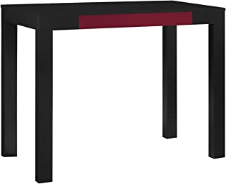 Ameriwood Home Parsons Desk with Drawer, Black/Red