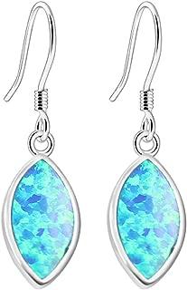 Australian Fire Opal Water Drop Hook Earrings for Women, Birthstone Jewelry Birthday Gifts