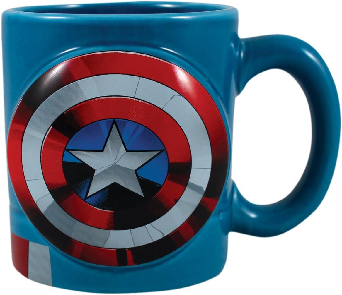 Marvel Comics Iron Man Sculpted Face 18 oz Ceramic Coffee Mug NEW UNUSED