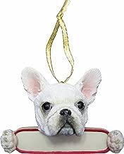 French Bulldog Ornament White