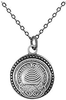 J8 LDS Unisex CTR Necklace Salt Lake City Temple Doorknob Silver Stainless Steel One Moment in Time