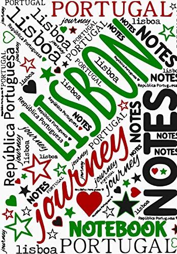 Lisbon Notebook: Portugal Journey Notes Travel Journal   Lissabon Reisetagebuch Notizbuch unliniert