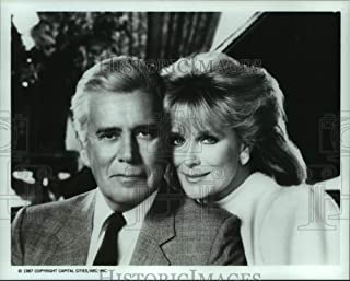 Vintage Photos 1987 Press Photo John Forsythe, Linda Evans from Dynasty Airing on ABC.