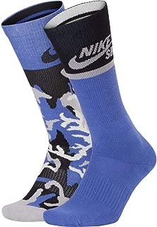 SB Energy Crew Socks 2 Pack Purple Camo/Purple, Large