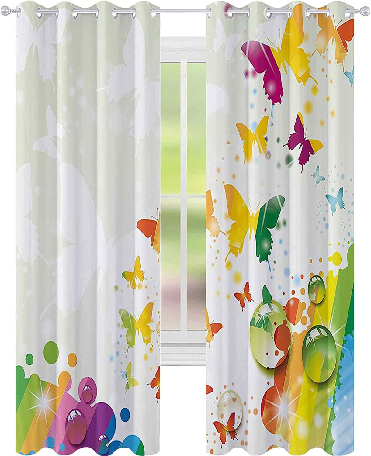 90%-99% Blackout Lining Curtain Free Silhouettes online shop of SALENEW very popular Butterflies
