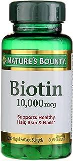 البيوتين من نيتشرز باونتي، 10000 ميكروغرام، 120 كبسولة جيلاتينية سريعة الاصدار