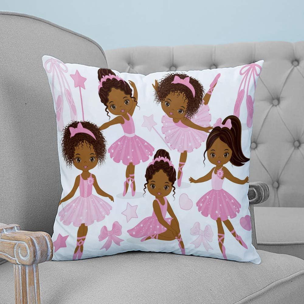 Roses Garden Throw Pillow Cover Cute Girl Gymna Dancer List price overseas Ballerina